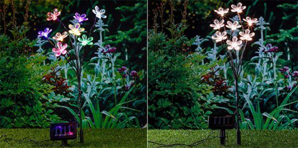 LED-Solar-Blumenstecker, Gartenstecker mit Solar