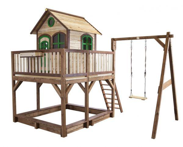 Axi Spielhaus Liam mit Schaukel, Rutsche, Sandkasten