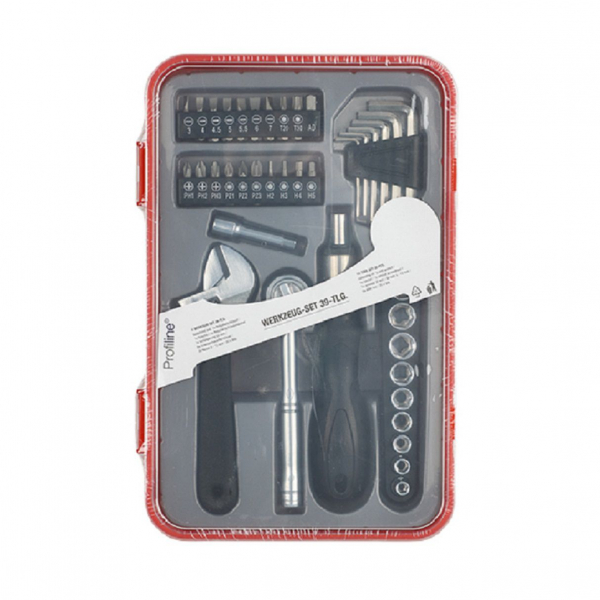 Werkzeug-Set 39-teilig mit Ratsche und Bits