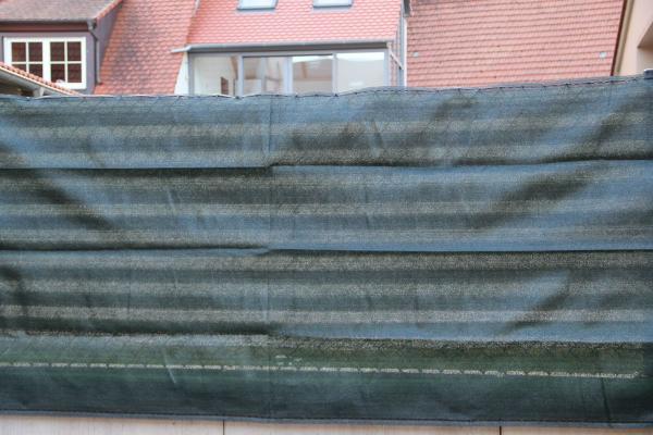 Zaunblende dunkelgrün, 90% blickdicht, 150g/m², versch. Längen/Höhen zur Auswahl