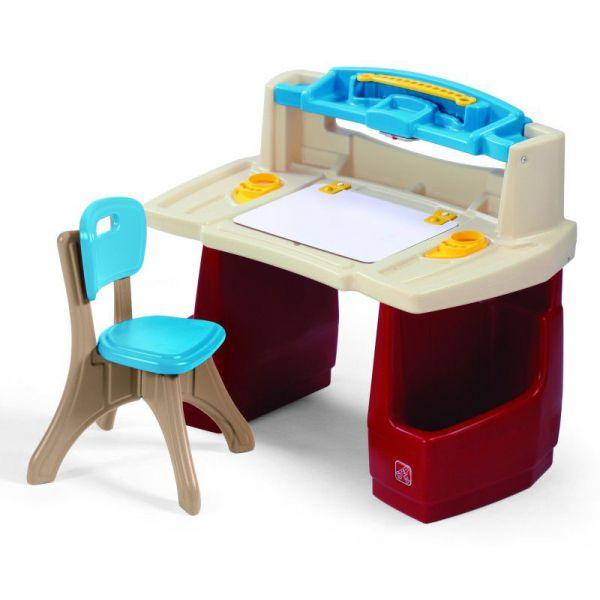 Maltisch mit Stuhl, Kunststoff, Schreibtisch