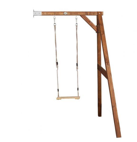Schaukelgerüst zur Wandmontage, Holzschaukel