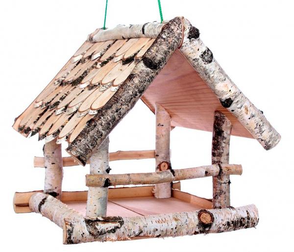 """Vogelhäuschen """"Birke I"""", zum Aufhängen, Holz, Futterhaus"""