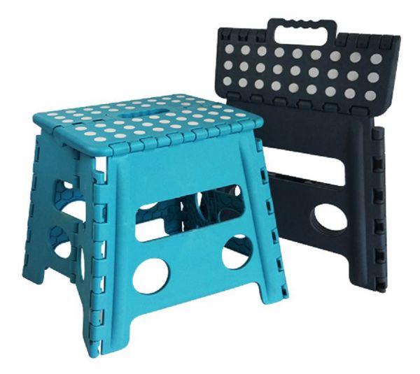 Klapphocker , Kunststoff, blau oder grau