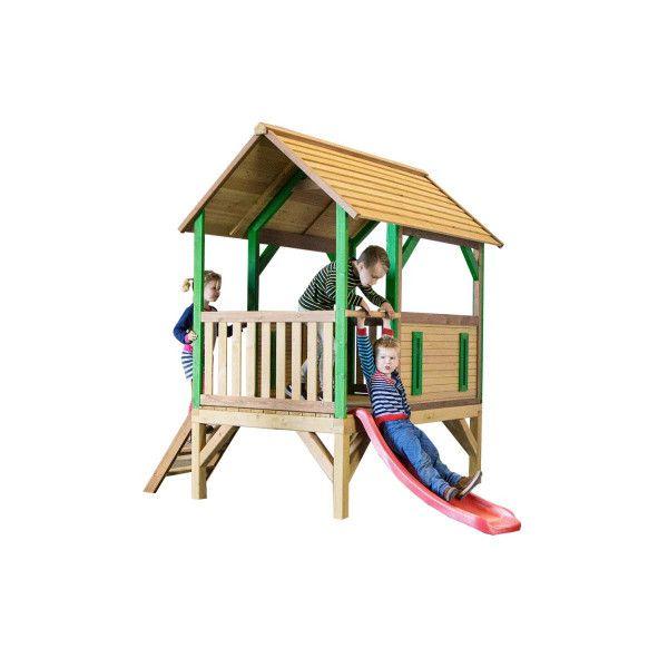 Spielhaus auf Stelzen mit Rutsche, Akela, Holzhaus