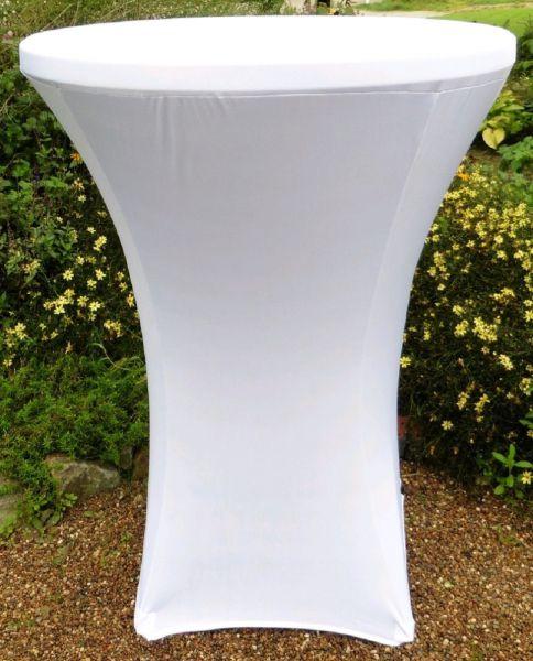 Husse für Bistro-Stehtisch, 80x110 cm, weiß