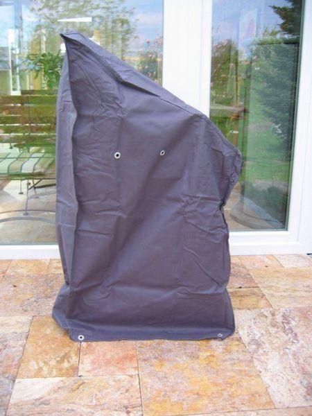 Premium Schutzhülle für Gartenstühle, grau, Abdeckung Stapelstühle