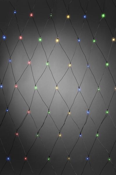 LED Lichternetz bunt mit Timer, batteriebetrieben, außen und innen