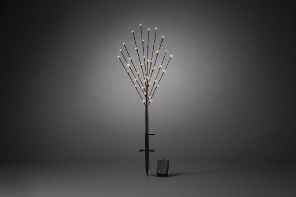 LED Baum schwarz, Timer, 10 Zweige, batteriebetrieben, Weihnachtsdekoration
