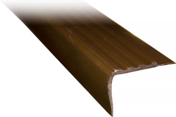 Treppenkantenprofil dunkelbraun, 100cm Länge, Kunststoff, Treppenprofil