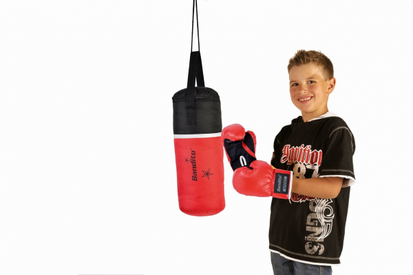 Boxset KIDDY-STAR mit Boxhandschuhe, Kinderboxsack