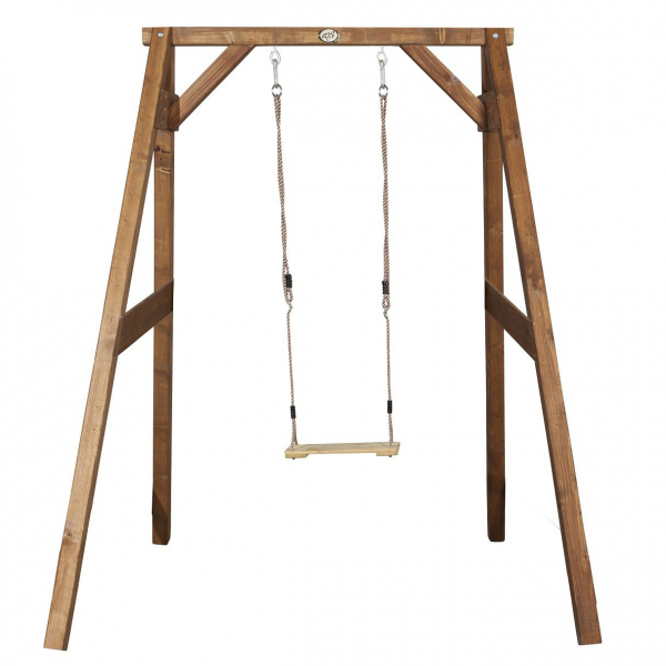 Axi Einzelschaukel aus Holz, braun