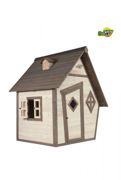 Sunny C050.003.00 Spielhaus Cabin Grau-Weiß