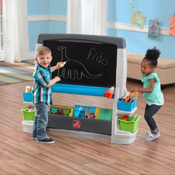 XXL Tafel für Kinder, Kindertafel mit Ablagefächer