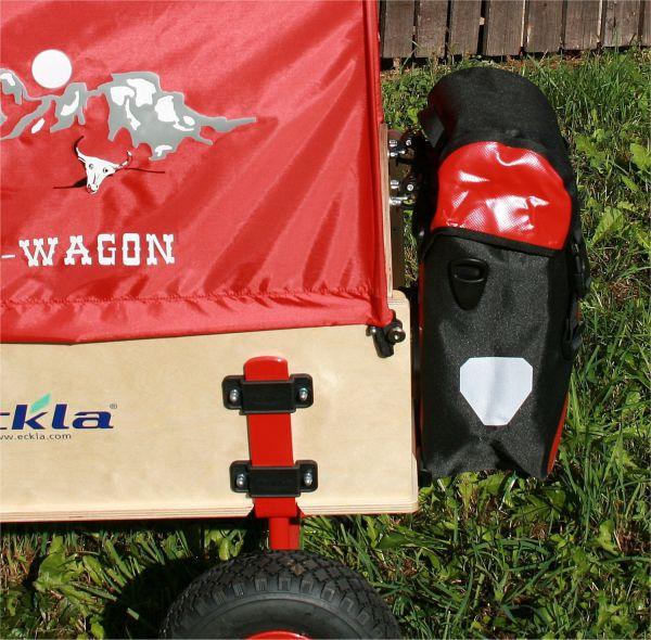 Gepacktasche rot-schwarz für Eckla Bollerwagen