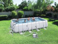 Power Steel Rectangular Pool Set 549x274x122cm Stahlrahmenpool