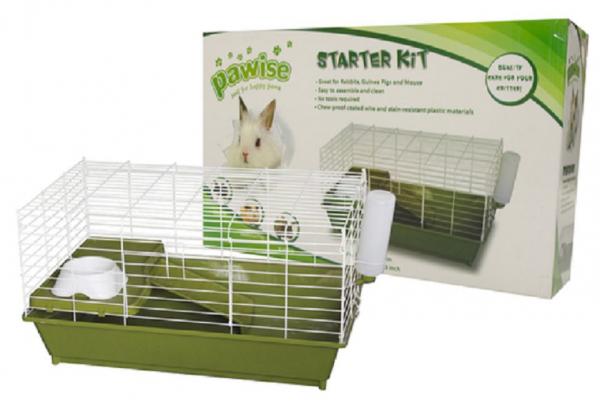 Hamsterkäfig Starter-Set, Trinkflasche, Napf