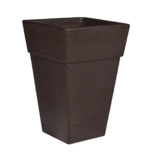 Pflanztopf Quadro Holz-Optik, Größe S