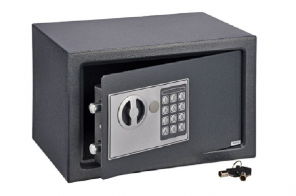 Safe mit Elektronik Zahlenschloss 31x20x20cm, Notfallschlüssel