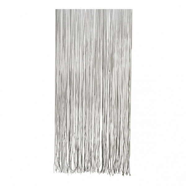 Türvorhang Twist 90x220 cm, schwarz/weiß, Fadenvorhang
