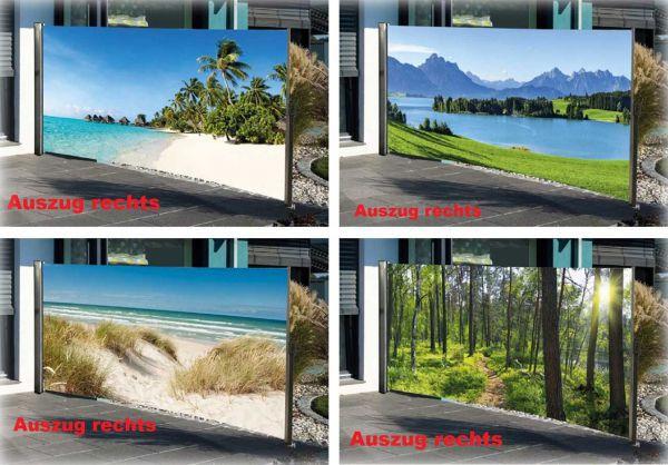 Seitenmarkiese verschiedene Motive 300x160 cm - Auszug rechts