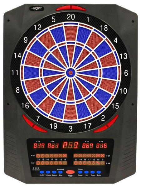Carromco Elektronisches Dartboard TOPAZ-901, Mit Adapter