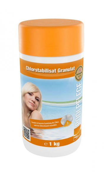 Chlorstabilisator Granulat, 1kg Dose, Wasserpflege