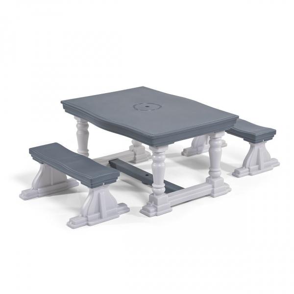 Kinder-Sitzguppe, Kunststoff, grau/weiß
