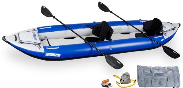 Sea Eagle Explorer 420X Pro 2er Kajak Set, Luft-Kajak