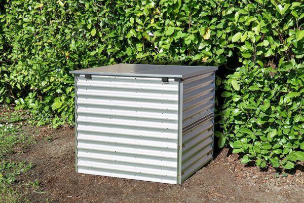 Vitavia Komposter TAMI blank/Alu mit Deckel und Entnahmeklappe