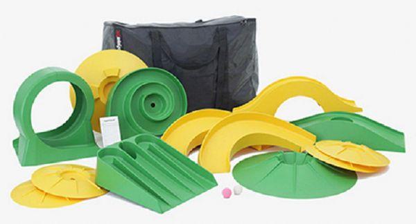 """Minigolf-Set """"putting XL"""" mit 13 Hindernissen in praktischer Tasche"""