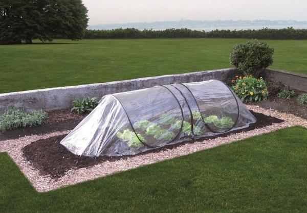 GardenGuard Frühbeettunnel für Gartenbeet, mehrfach erweiterbar, Pop-Up-System