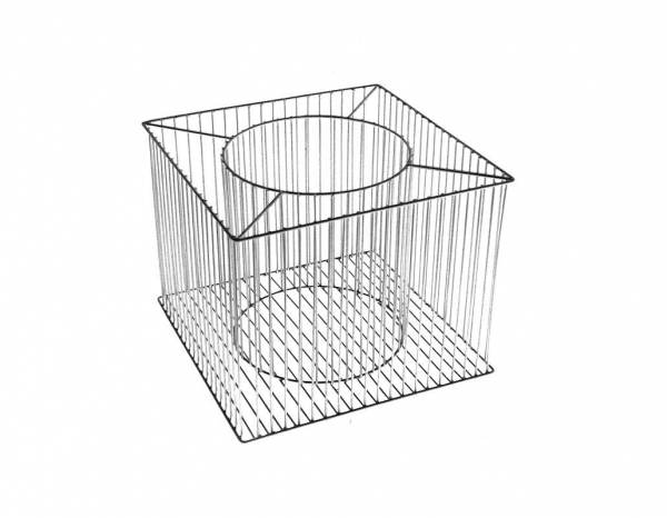 Gabione Pflanzkorb Futura, Größe M, Stahl, 40 x 40 cm