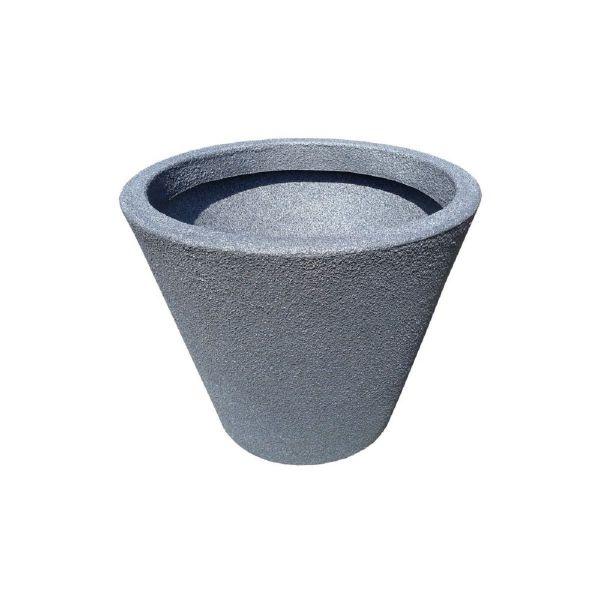 Pflanztopf JAZZ, Farbton Granit, Kunststoff, Größe S