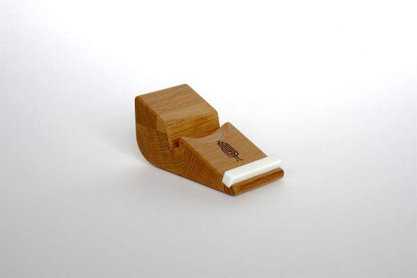 Smartphone-Halter Holz Eiche geölt Handyhalter