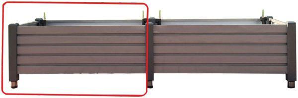 Premium Erweiterung für Hochbeet mit Bewässerungssystem, Aluminium grau