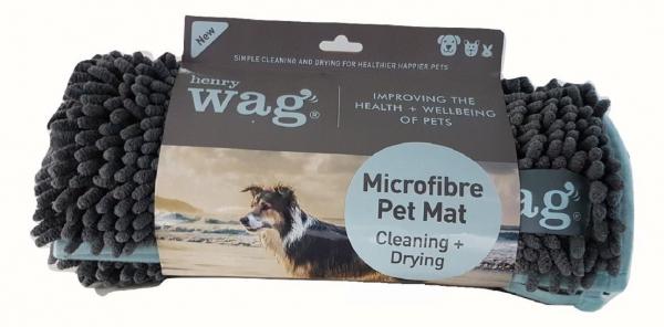 Henry Wag Mikrofaser-Matte für Hunde, grau, 2 Größen