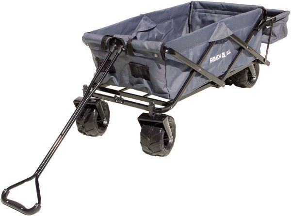 Bollerwagen faltbar mit zusätzlichem Fach, Transportwagen, Handwagen