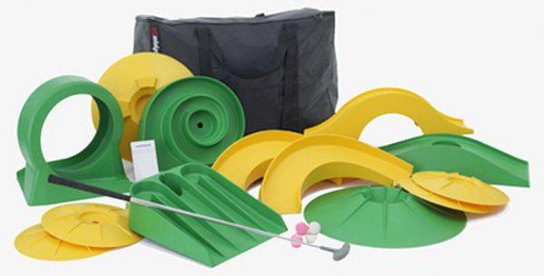 """Minigolf-Set """"basic"""" mit 1 Schläger und 13 Hindernissen in praktischer Tasche"""