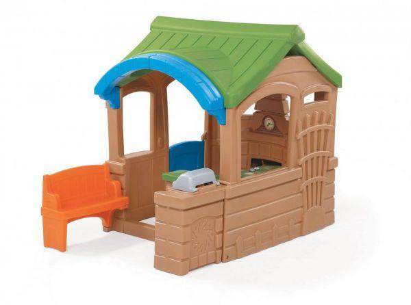Step2 800100 Spielhaus mit Grill und Terrasse für innen und außen
