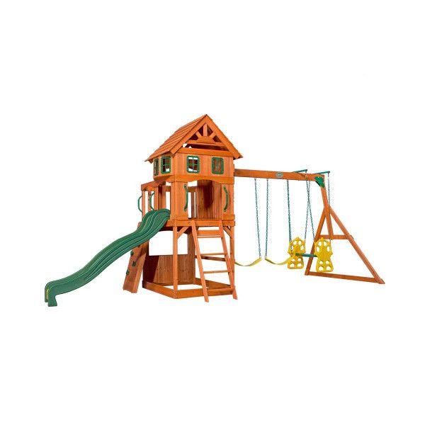 Backyard Spielturm Atlantic, Holz, mit Schaukel und Rutsche
