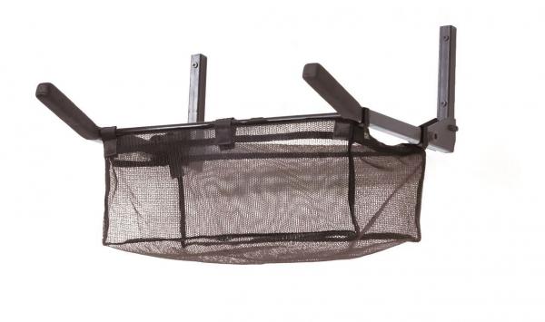 Wand-Fahrradhalterung mit Ablagekorb, Metall, klappbar