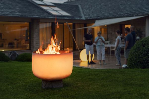 QFlame Design Feuerschale aus Glas