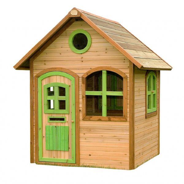 AXI Spielhaus JULIA, Holz, braun/grün