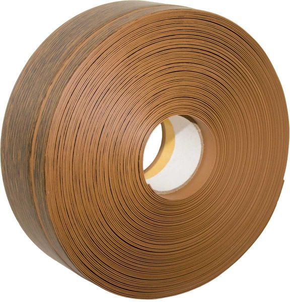 Weichsockelleiste, PVC, 25m, selbstklebend Eiche rustikal