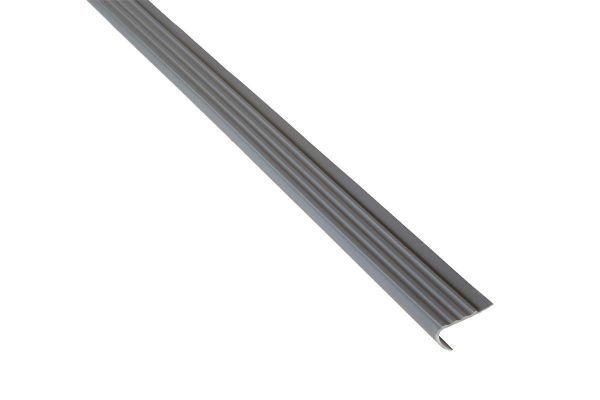 Treppenkantenprofil grau, 110cm, Kunststoff, Treppenprofil