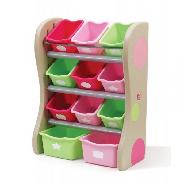 Spielzeugregal mit 11 Boxen, Spielzeugkiste