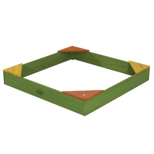 SUNNY Sandkasten aus Holz mit 4 Sitzecken
