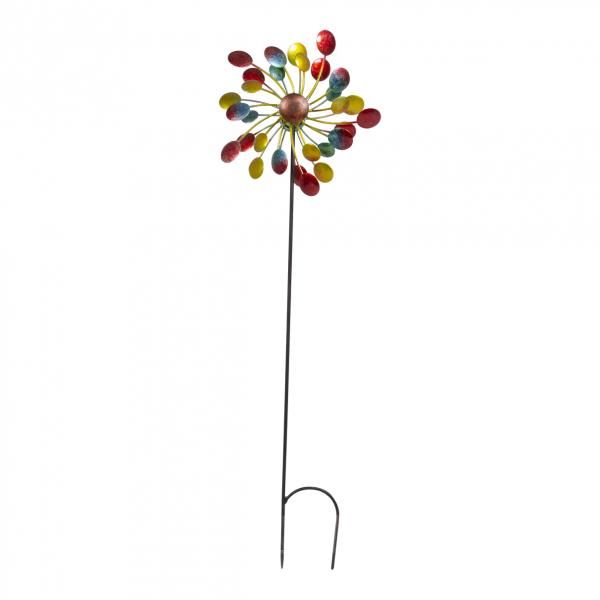 Windrad FARBPUNKTE, Durchmesser 27cm, 105 cm hoch, Windspiel