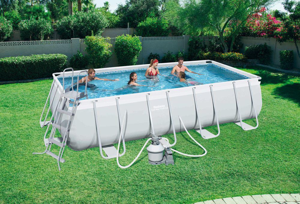 frame pool power steel set 488 x 274 x 122 cm pools pools spa garten. Black Bedroom Furniture Sets. Home Design Ideas
